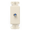 Leviton Decora Insert Flush Mount CATV Video 1 F-Type Jack-Light Almond