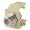 Leviton QuickPort F-Type-Coaxial Snap-In Adapter RG-6 RG-59-White