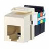 Leviton QuickPort Snap-In Telephone Connector USOC Voice Grade-Ivory