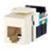 Leviton QuickPort Snap-In Telephone Connector USOC Voice Grade-White
