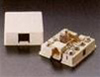 Leviton Surface Mount Telephone Jack 6P4C 1 Port Biscuit Block-Ivory