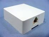 Leviton Surface Mount Telephone Jack 6P4C 1 Port Biscuit Block-White