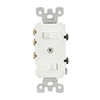 Leviton Duplex Combination Switch Single-Pole and 3-Way Switch-White
