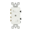 Duplex Combination Switch Double 3-Way Toggle Switch Commercial White