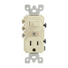 Duplex Combination Switch Toggle Switch and Receptacle Commercial Ivory