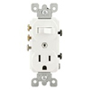 Duplex Combination Switch 3Way Toggle Switch Receptacle Commercial White