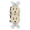 Leviton Duplex Receptacle with Quickwire Push-In-Ivory