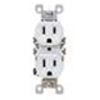 Leviton Duplex Receptacle with Quickwire and Self-Grounding-White