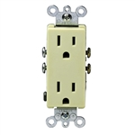 Leviton Decora Duplex Receptacle Quickwire Push-In and Side Wired-Ivory