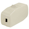 Leviton 3A Heavy Duty In-Line Cord Switch-Ivory
