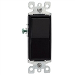 Leviton Decora Rocker Switch Single-Pole-Black