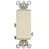 Leviton Decora Illuminated Rocker Switch Single-Pole-Light Almond