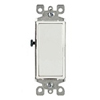 Leviton Decora Illuminated Rocker Switch Single-Pole-White