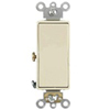 Leviton 20A Decora Plus Rocker Switch 3-Way Commercial Grade-Ivory
