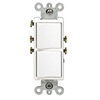 Leviton Decora Combination Switch Double Single-Pole Rocker-White