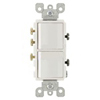 Leviton Decora Combination Switch Single-Pole and 3-Way Switch-White