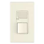 Leviton Combination Decora Switch with LED Guide Light-Light Almond