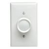 600W Trimatron Deluxe Incandescent Rotary Dimmer 3-Way-White and Ivory