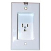 Leviton Recessed Single Wall Receptacle-White