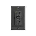 Leviton 15A Decora Plus GFCI Receptacle-Black