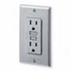 Leviton 15A Decora Plus GFCI Receptacle-Gray