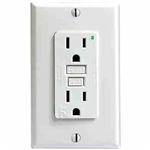 Leviton 15A Decora Plus GFCI Receptacle-White