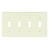 Leviton 4-Gang Toggle Switch Wall Plate-Light Almond