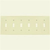 Leviton 6-Gang Toggle Switch Wall Plate-Light Almond