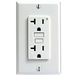 Leviton 20A Decora Plus GFCI Receptacle with Wall Plate-Almond