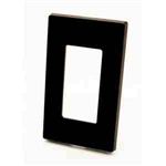 Leviton 1-Gang Decora Plus Screwless Wall Plate-Brown