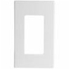 Leviton 1-Gang Decora Plus Screwless Wall Plate-White