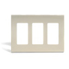Leviton 3-Gang Decora Plus Screwless Wall Plate-Ivory