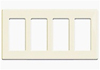 Leviton 4-Gang Decora Plus Screwless Wall Plate-Almond