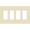 Leviton 4-Gang Decora Plus Screwless Wall Plate-Light Almond