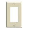 Leviton 1-Gang Decora Wall Plate-Light Almond