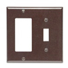 Leviton 2-Gang Combination Wall Plate 1-Decora and 1-Toggle Switch-Brown