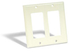 Leviton 2-Gang Decora Wall Plate-Almond
