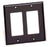 Leviton 2-Gang Decora Wall Plate-Black