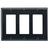 Leviton 3-Gang Decora Wall Plate-Black