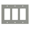Leviton 3-Gang Decora Wall Plate-Gray