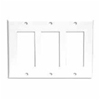Leviton 3-Gang Decora Wall Plate-White