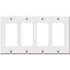 Leviton 4-Gang Decora Wall Plate-White