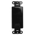 Leviton 5-Gang Decora Wall Plate-Black