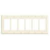 Leviton 6-Gang Decora Wall Plate-Almond
