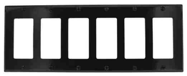 Leviton 6-Gang Decora Wall Plate-Black