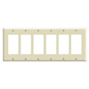 Leviton 6-Gang Decora Wall Plate-Light Almond