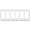 Leviton 6-Gang Decora Wall Plate-White