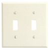 Leviton 2-Gang Toggle Switch Wall Plate-Almond