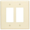Leviton 2-Gang Decora Wall Plate Oversized-Almond