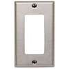 Leviton 1-Gang Decora Wall Plate-Stainless Steel